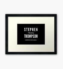 Stephen 'Wonderboy' Thompson Framed Print