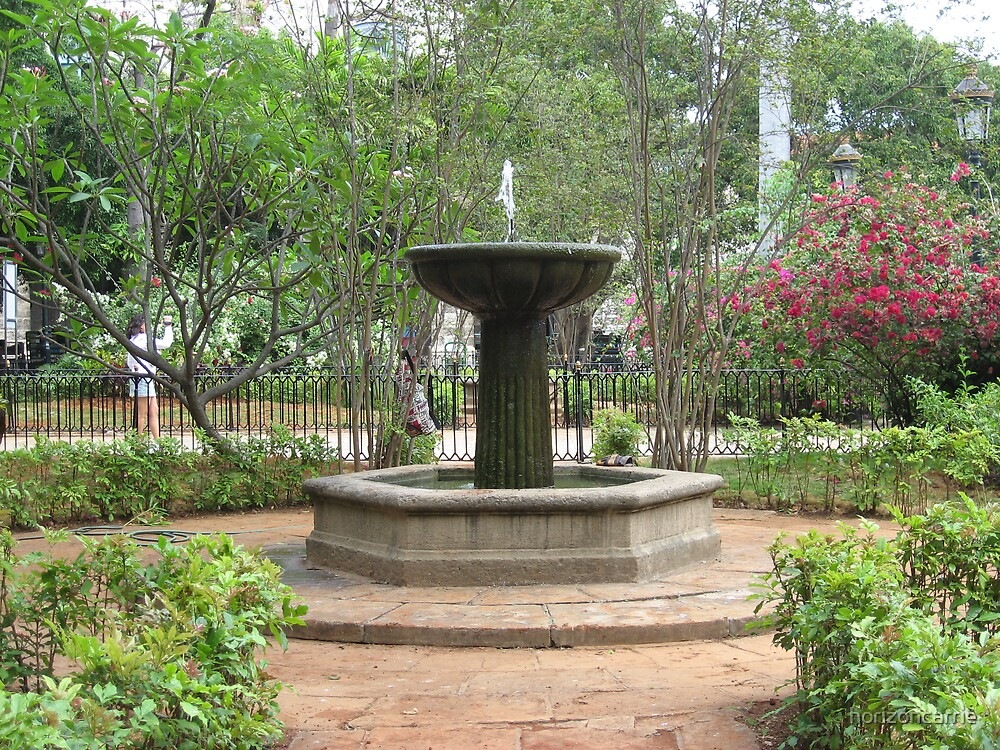 fountain in Havana by horizoncarrie