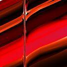 red abstract pattern von donphil