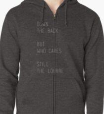 Sudadera con capucha y cremallera Letras de canciones de The Louvre Lorde