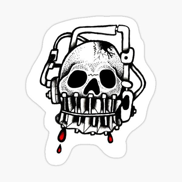 Kopfklappe Sticker