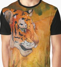 Tiger Abstract in Rust Graphic T-Shirt