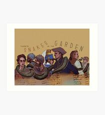 Snakes in the Garden Art Print
