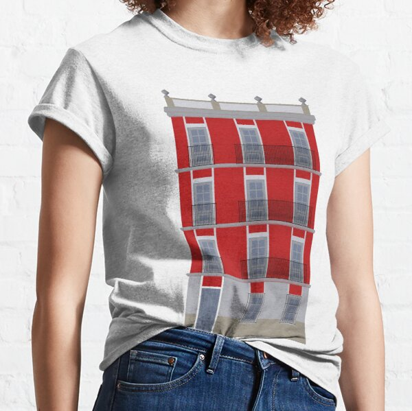 Red building facade Classic T-Shirt