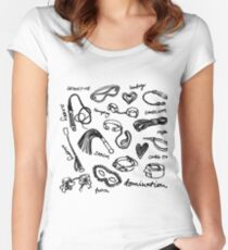 pattern bdsm  Women's Fitted Scoop T-Shirt