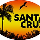Surfing Santa Cruz California Surf Beach Ocean Palm Oval by MyHandmadeSigns