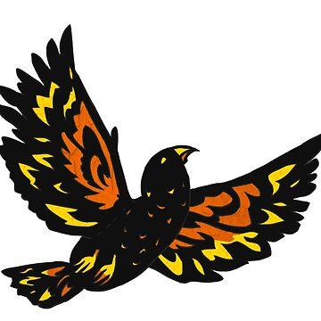 Kea bird flying by Shinymarble