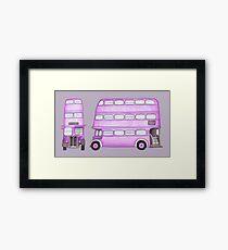 Big Purple Bus Framed Print