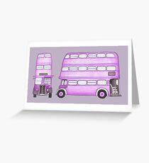 Big Purple Bus Greeting Card