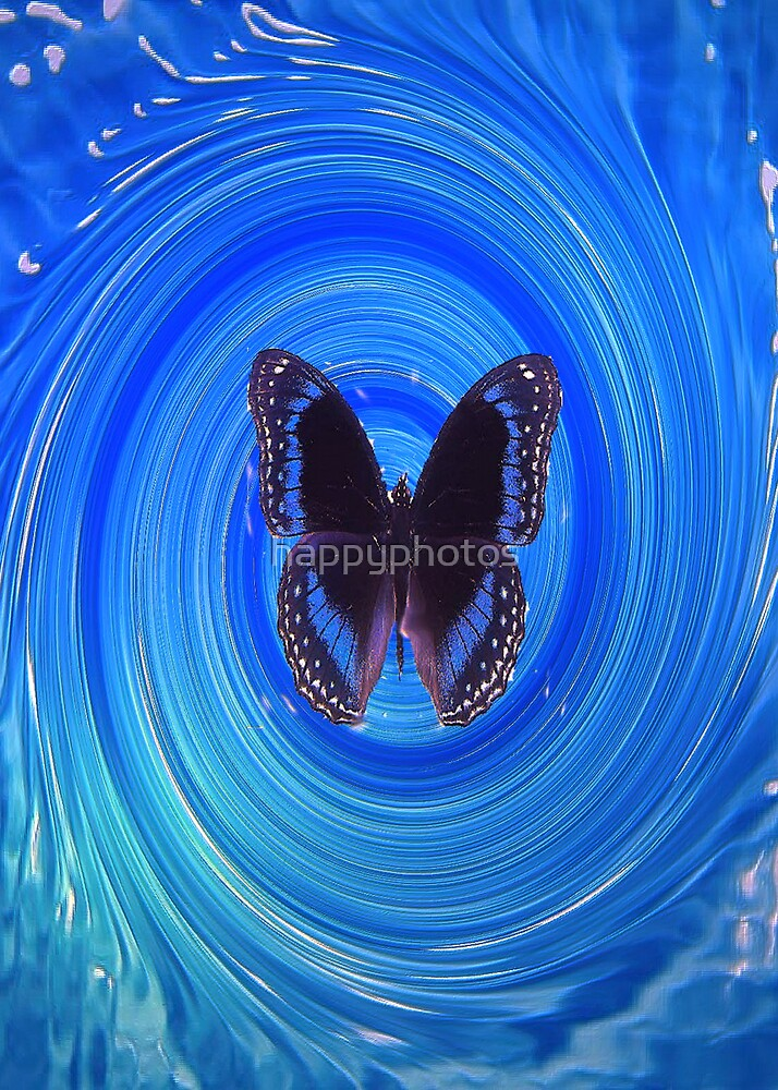 butterfly in water by happyphotos