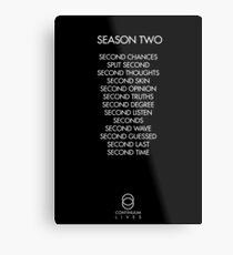 Continuum - Season Two Episodes Metal Print