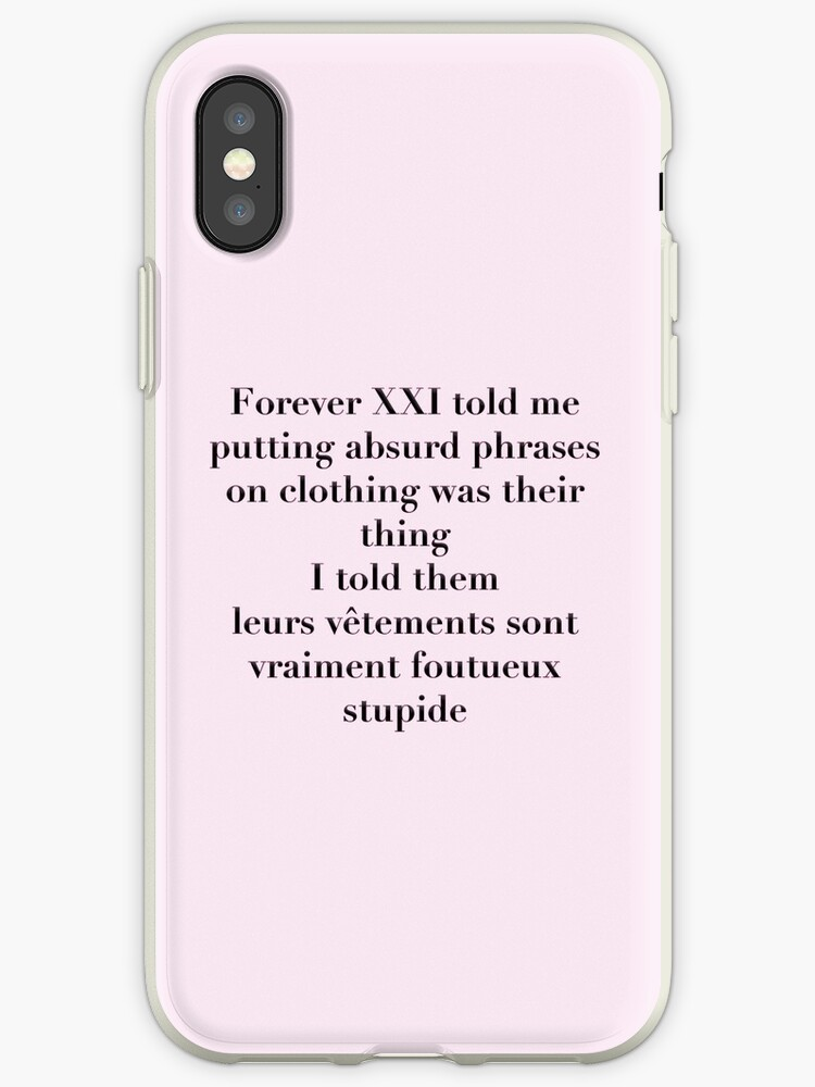 sports shoes ce8ed cf84b 'If Only Forever 21 Understood French' iPhone Case by richwear