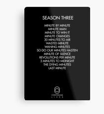 Continuum - Season Three Episodes Metal Print