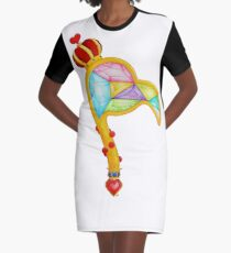 Scepter of the Queen of Heart Graphic T-Shirt Dress
