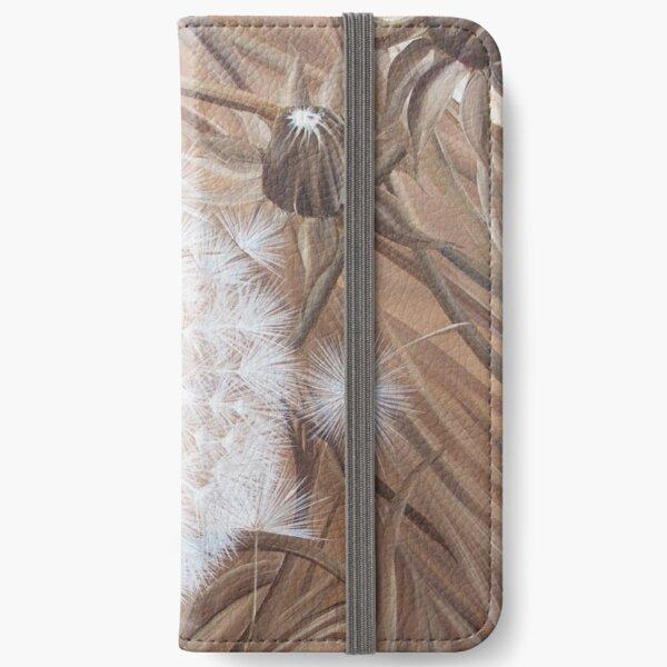 Sepia dandelion seed iPhone Wallet