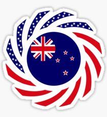 New Zealand American Multinational Patriot Flag Sticker