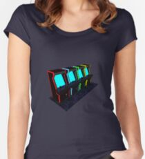 Voxel Arcade Women's Fitted Scoop T-Shirt