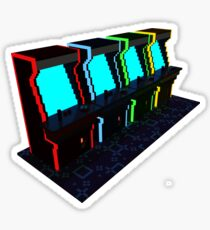 Voxel Arcade Sticker