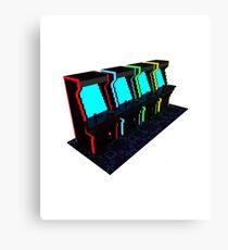 Voxel Arcade Canvas Print