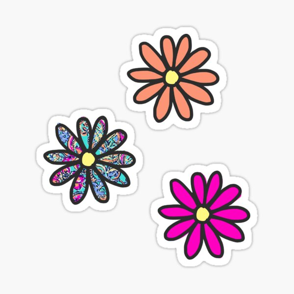 Flower 3-pack Stickers Sticker