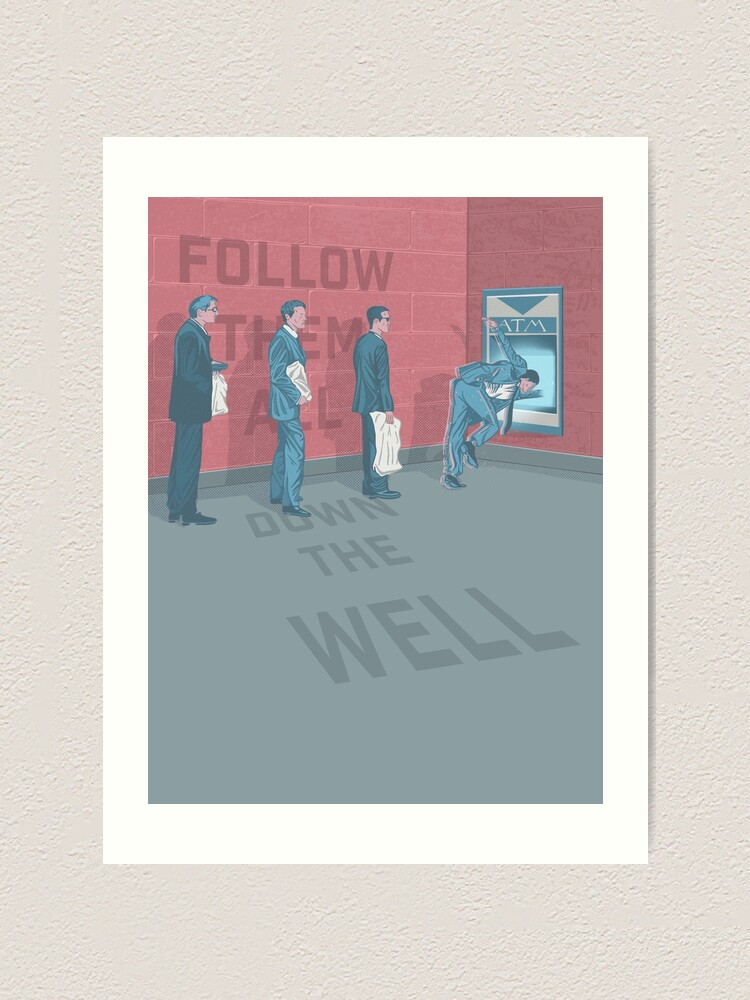 Alternate view of Follow Them All Down The Well Art Print
