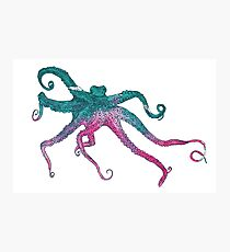 Vector illustration with octopus Photographic Print