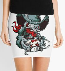 Gamer Skull -  Bermuda Grey Mini Skirt