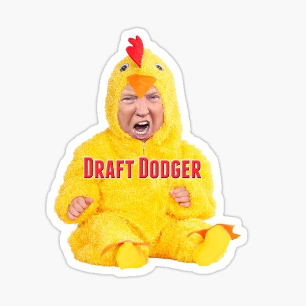 Baby Trump Draft Dodger Sticker
