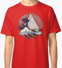 Hokusai - 36 Views Of Mount Fuji - Great Wave Off Kanagawa Geometric Triangle Shirt Classic T-Shirt
