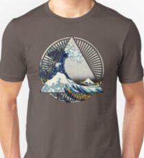 Hokusai - 36 Views Of Mount Fuji - Great Wave Off Kanagawa Geometric Triangle Shirt T-Shirt