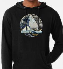 Vintage Hokusai Mount Fuji Great Tsunami Wave Japanese Geometric Manga Shirt Lightweight Hoodie