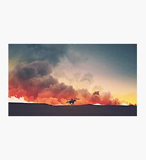 Field of Fire Photographic Print