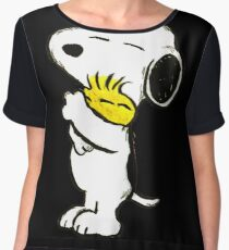 Snoopy and Woodstock Chiffon Top