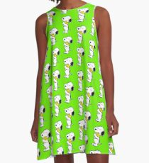 Snoopy and Woodstock A-Line Dress