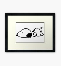 Snoopy sleeping Framed Print