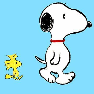 Snoopy and woodstock walking by cmcewan