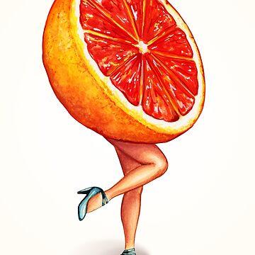 Fruit Stand - Grapefruit Girl by KellyGilleran