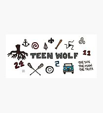 Teen Wolf icons Photographic Print
