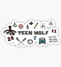Teen Wolf icons Sticker