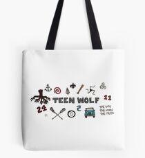 Bolsa de tela Iconos de lobo adolescente