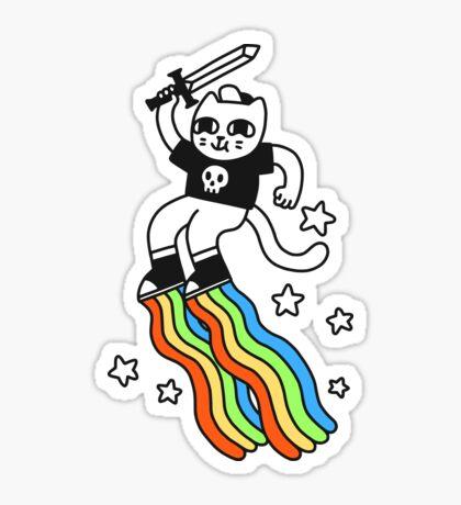 Captain Rainbow Boots Glossy Sticker