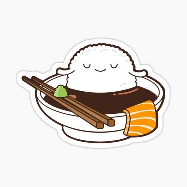 Relaxed Sushi Sticker