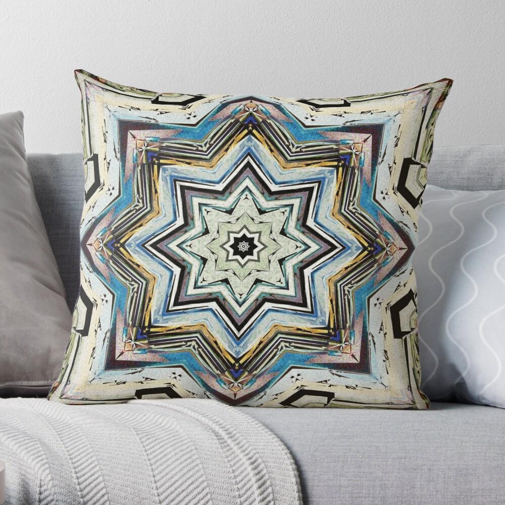 Eight Points of Texture Throw Pillow