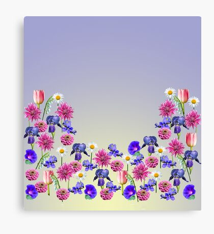 Flowers From My Garden Canvas Print