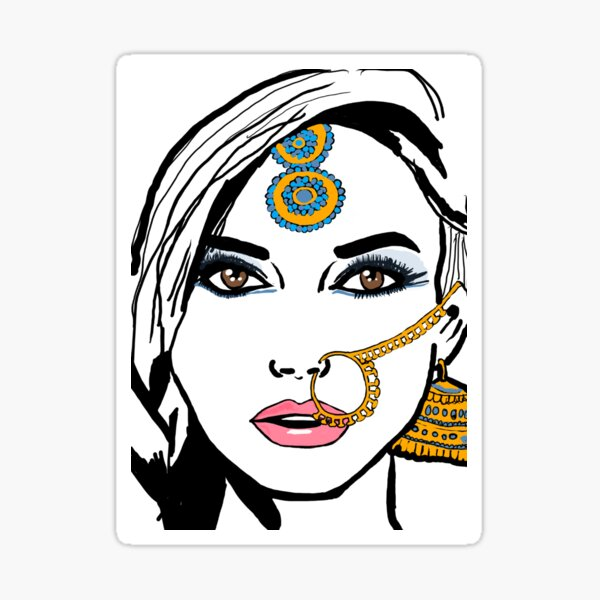 Nath Lady  Sticker