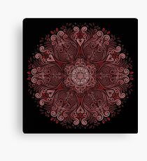 Red Pattern Ornate with 3D effect Canvas Print
