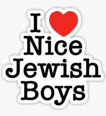 I Love Nice Jewish Boys Sticker