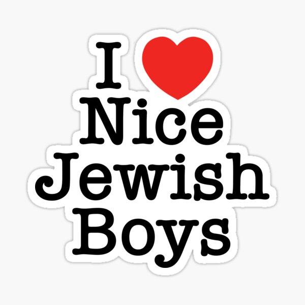 I Love Nice Jewish Boys Sticker