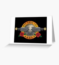 Ray Guns n Roses Greeting Card