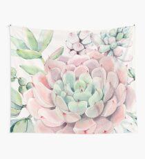 Hübsche Succulents-rosa und grüne Wüste Succulent Illustration Wandbehang